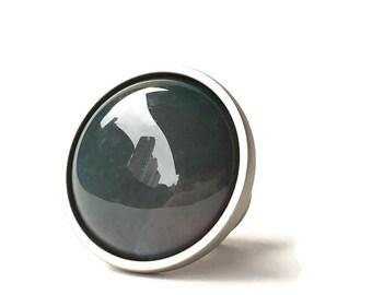 Indian Agate Stone Knob/ Drawer Pull/ Round Knob