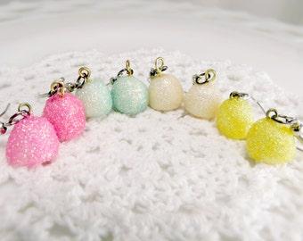 Gumdrop Charm Earrings Kawaii Polymer Clay Candy Charms Sweet Lolita Jewelry