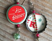 Shiner Cheer Beer Bottle Cap Earrings - Great for the Holidays!