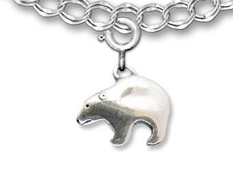 Sterling Silver Bear Charm