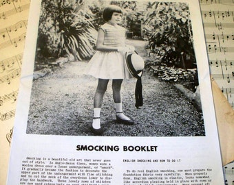 1950s Good Housekeeping English Smocking Booklet - Original Magazine Ad - Complete Instructions