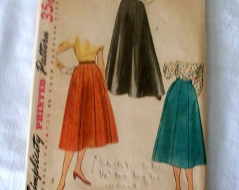1950s Simplicity Skirt Pattern - 4374 - Size 26 - Cut Complete