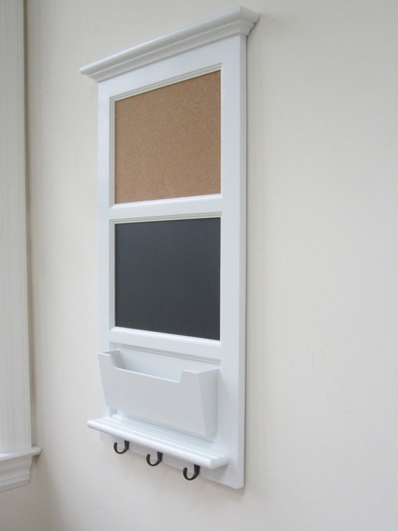 Wall mail organizer with magnetic chalkboard by for Wall mail organizer with cork board
