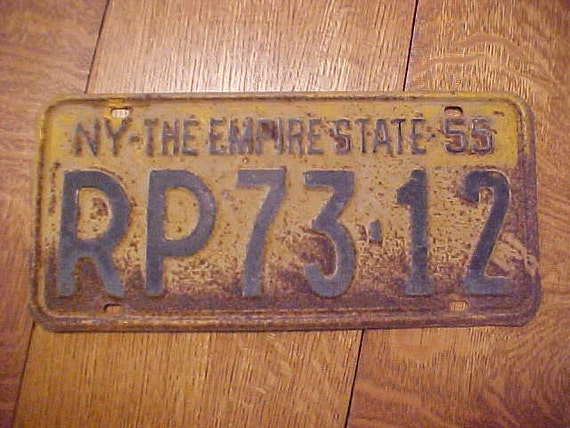 1955 56 ny new york state commercial truck antique license. Black Bedroom Furniture Sets. Home Design Ideas