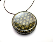 Orgone Pendant Flower of Life - Orgonite Supernatural Jewelry - Modern Spiritual Gift - Lucky Charm - Protection Amulet - FREE SHIPPING