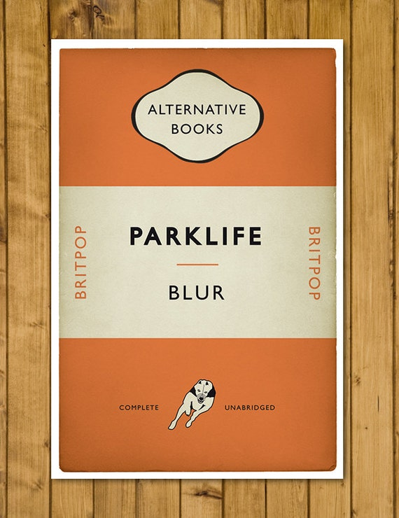 Penguin Book Cover T Shirts : Britpop book cover poster blur parklife alternative