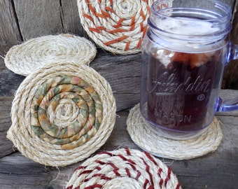 Hand Crafted Rope Drink Coasters