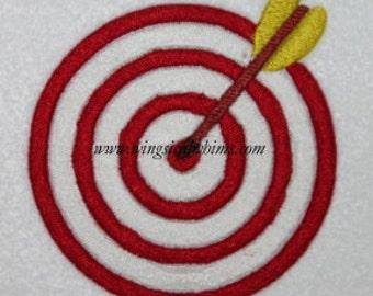 Bullseye Hunting Target  Digitized Machine Embroidery Design