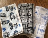Star Wars baby burp cloth set  premium diaper R2D2 stormtrooper six ply manly husband friendly rey shower gift present