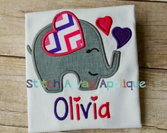 Valentine Elephant - Valentines custom shirt