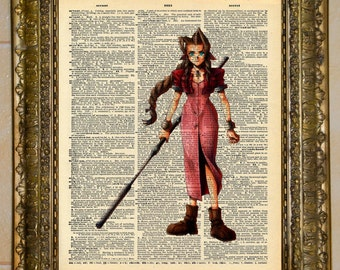 Final Fantasy VII Aeris Dictionary Art