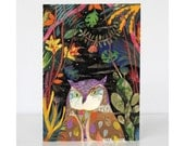 Owl Greetings Card - An Owl in the Jungle