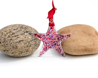 Fused Glass Star Suncatcher - Ornament
