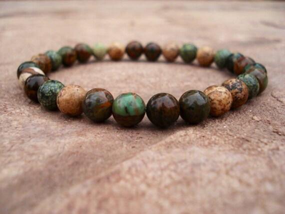 Opal Bracelet, Modern Bracelet, Minimalist Bracelet, Green Bracelet, Gemstone Bracelet, Stackable Bracelets, Beaded Bracelet, Mens Jewelry
