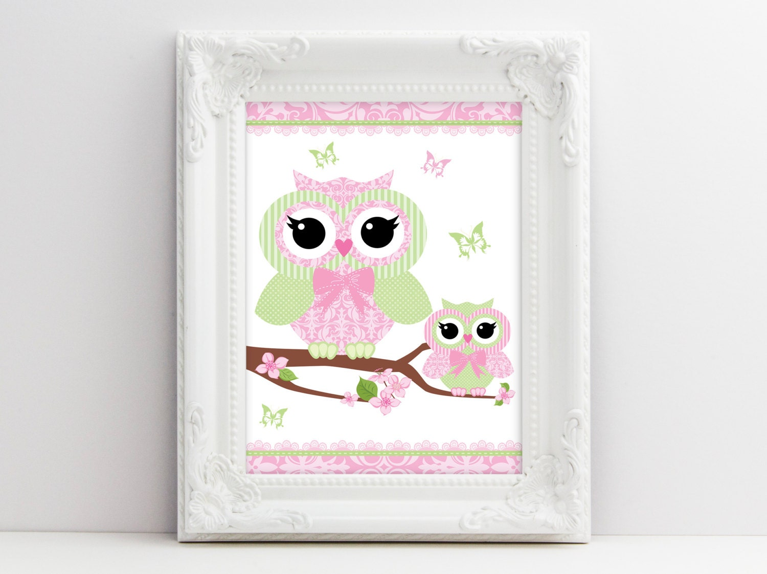 Owl nursery decor baby girl nursery wall by smudgecreativedesign - Girl owl decor ...