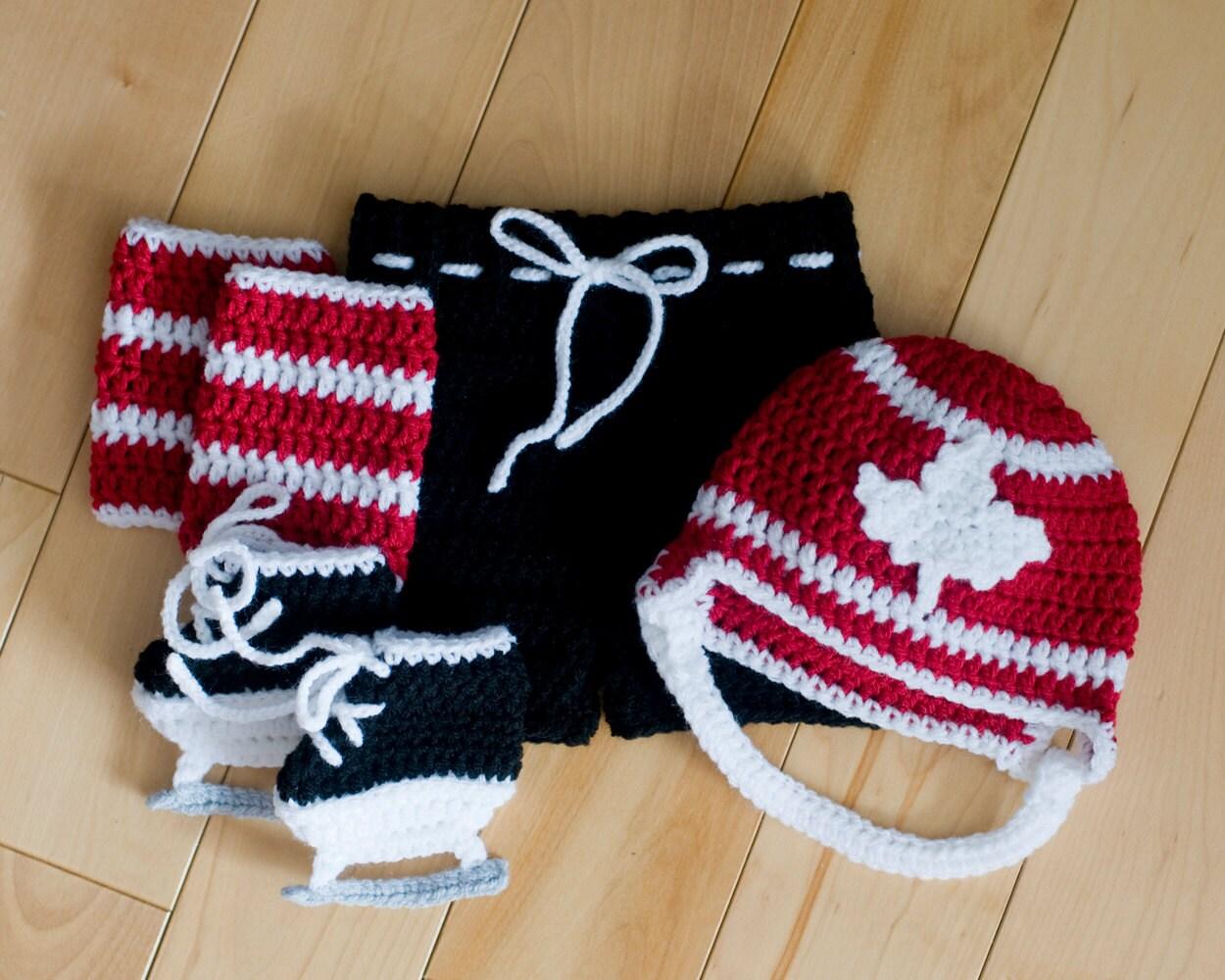 MAPLE LEAF HOCKEY Grandmabilt Crochet Hockey Baby Boy Hockey