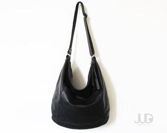 Black leather bag SALE leather hobo bag - soft leather bag - large leather bag - crossbody bag women leather bag leather shoulder bag purse
