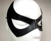 Catwoman leather mask,  Batman tv series. Eartha Kitt inspired in black. superhero cat