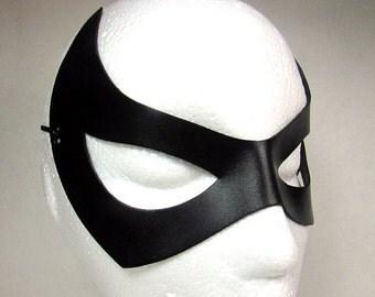 Catwoman Mask / Leather Mask / Catwoman / Eartha Kitt Inspired/ Black Superhero Mask/ Catwoman Cosplay / Cat Woman Costume/ Superhero / Mask