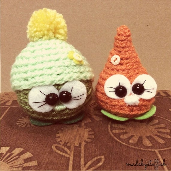 Forrest and Jenny - Peas & Carrots Cuties -  Amigurumi Crochet mini