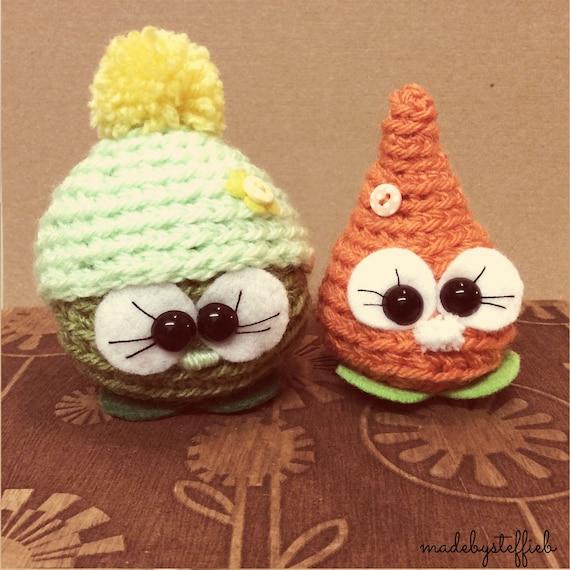 Forrest and Jenny - Peas & Carrots Cuties -  Amigurumi Crochet mini