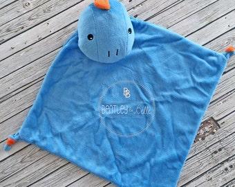 Personalized Dinosaur Lovey - Monogrammed Dinosaur Lovey Lovie - Personalized Cuddle Blanket