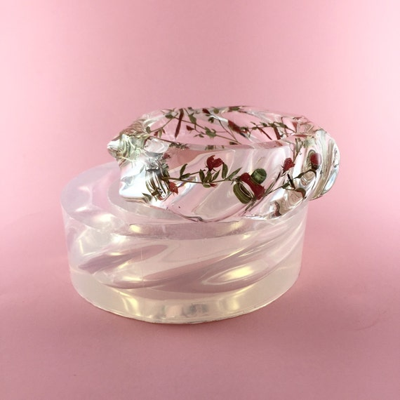 Design Your Own Custom Bangle Charm Bracelet Pick Your Charms: Clear Silicone Mold Twisted Bangle Create Your Own Resin