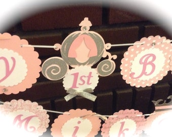 Royal PRINCESS birthday party package scallop circle crown tiara royal ball first 1st birthday
