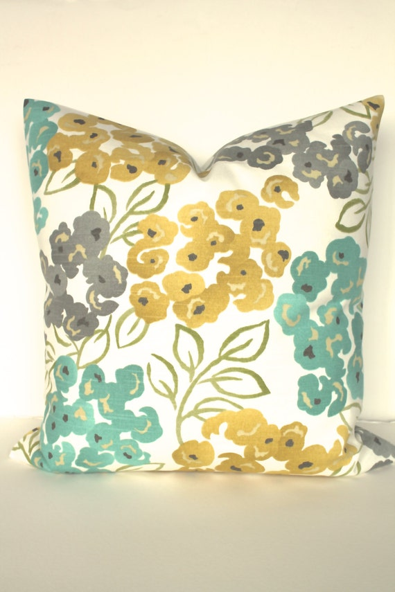 Throw Pillows 20 X 12 Yellow : PILLOWS Turquoise Teal Decorative Throw by SayItWithPillows