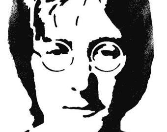 John Lennon Stencil, Art Stencil, Décor stencil, Painting, Ideal Stencils