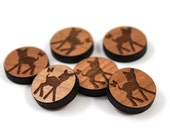 Laser Cut Supplies-8 Pieces.Fawn & Butterfly Charms -Laser Cut Wood-Earring Supplies- Little Laser Lab Sustainable Wood Products
