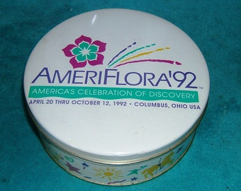 Ameriflora 1992 Limited Edition Souvenir Cookie Tin Columbus Ohio