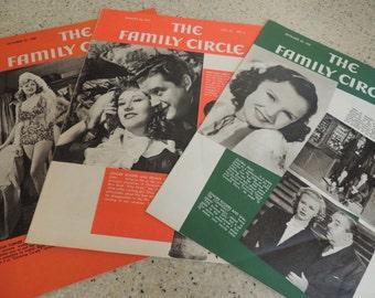 1939-1941 Three Family Circle Magazines