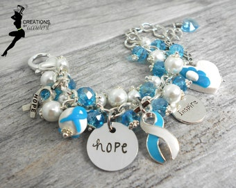 Hydrocephalus Awareness Bracelet in Stainless Steel | Hydrocephalus Awareness Jewelry | Hydrocephalus Jewelry | Hydrocephalus Support