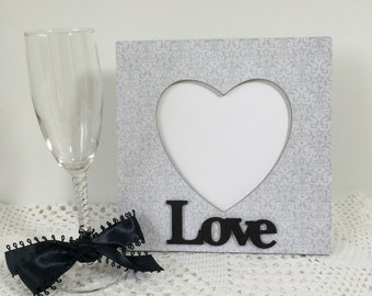 Love is in the Air Decoupaged Wedding Picture Frame