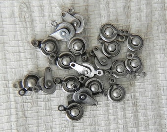 7.5mm Antique Silver Snap Clasp - 6 Sets - 1162 - Ball and Socket Clasp