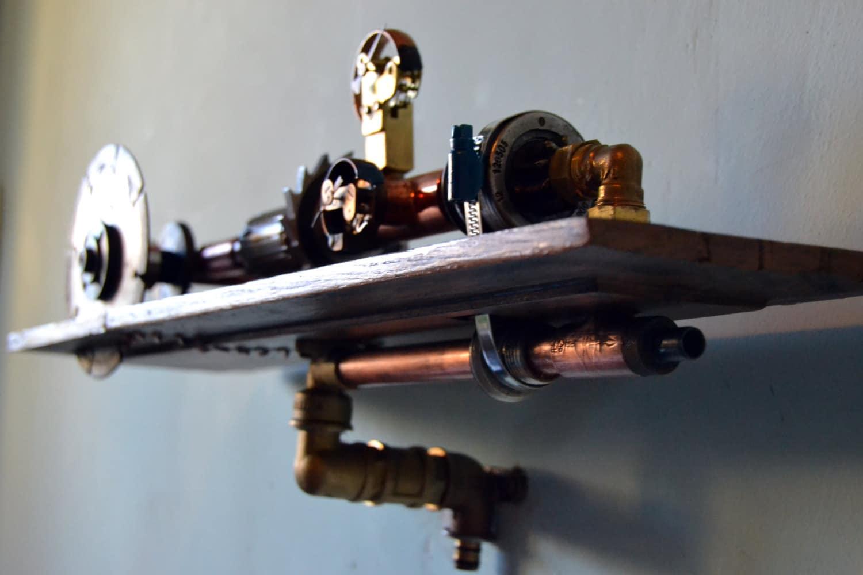 Image Gallery steampunk shelf