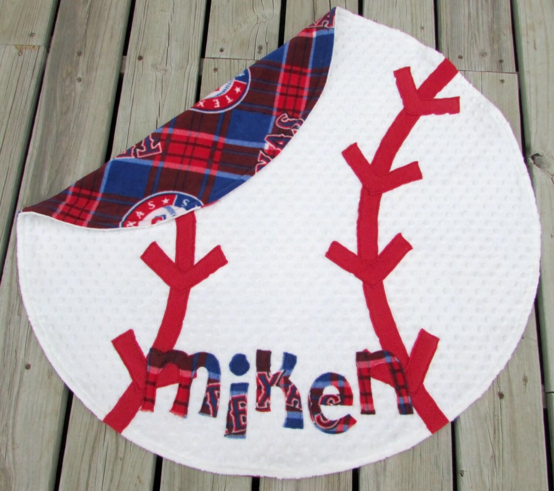 Baseball Baby Blanket Texas Rangers Sports Nursery Decor