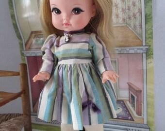 Royal Doll all original Pre Blythe with large brown eyes blonde hair 1965