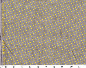 1 Yard, Small Yellow Dots on Gray