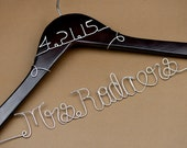Promotion, Custom Wedding Hanger, Single Line Wire Name Hanger, Personalized Bridal Hanger, Bridesmaids Name Hanger CY001