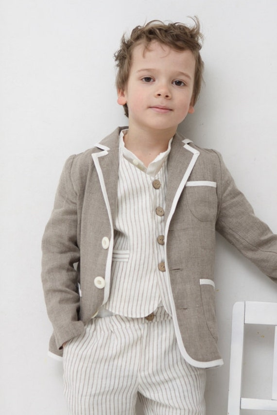 Boys Clothing Boys Natural Linen Blazer Toddler Boy By