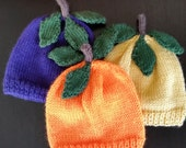 Fruit Hand Knitted Hats 0 - 3 months