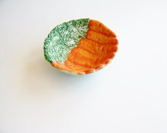 Vintage Fitz and Floyd Carrot Bowl - 1991 - Decorative Bowl, Vegetable Bowl