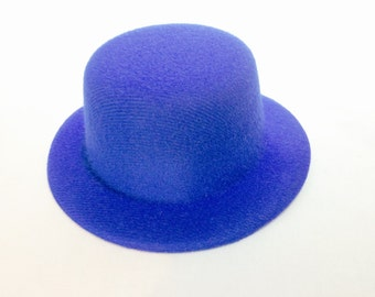 "5"" Mini Top Hat Fascinator Base NO HAIRCLIPS Available in 10 Colors - BLUE"