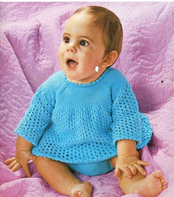 knitting pattern for babies angel top and pants 16/20 in dk