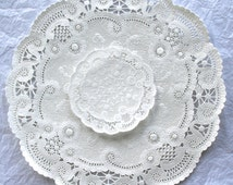 """French Lace Paper Doilies, 4"""" ,5"""", 6"""", 8"""", 10"""""""