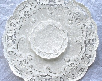 "French Lace Paper Doilies, 4"" ,5"", 6"", 8"", 10"""