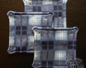 Fleece Rat Hammock: Blue Plaid 10-inch Square