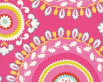 Jeevan Fabric in Pink - Kumari Garden by Deena Designs